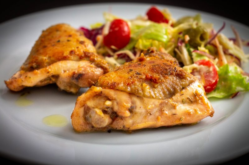 Sült csirkecomb, olaszosan
