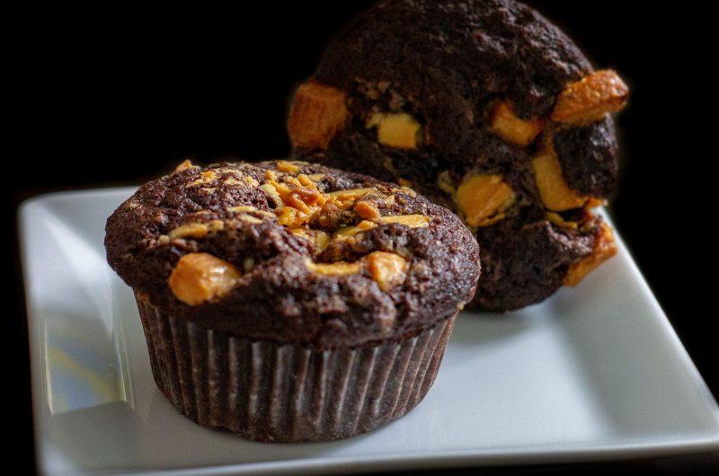 Dupla csokis, banános muffin